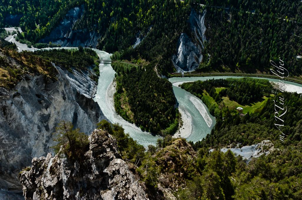 Ruinaulta, die wildromantische Schlucht im Kanton Graubünden.