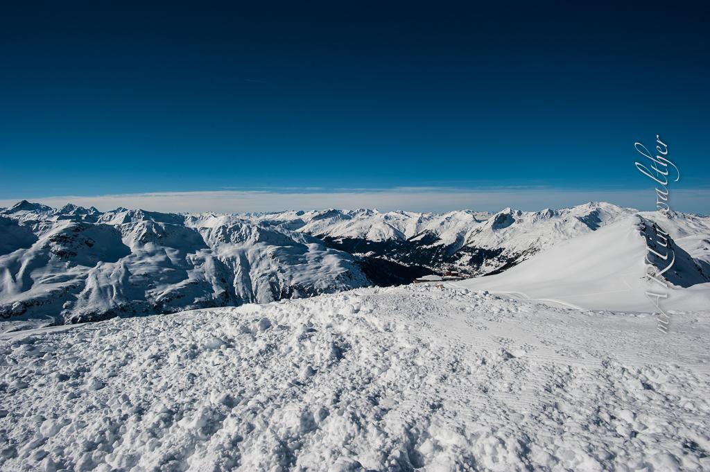 Blick nach Davos