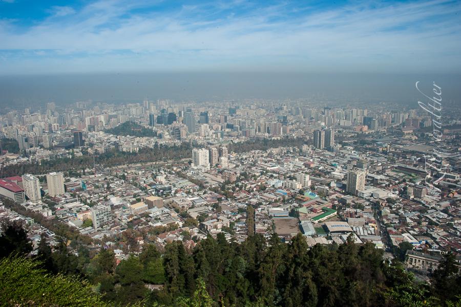Santiago de Chile vom Cerro San Cristóbal
