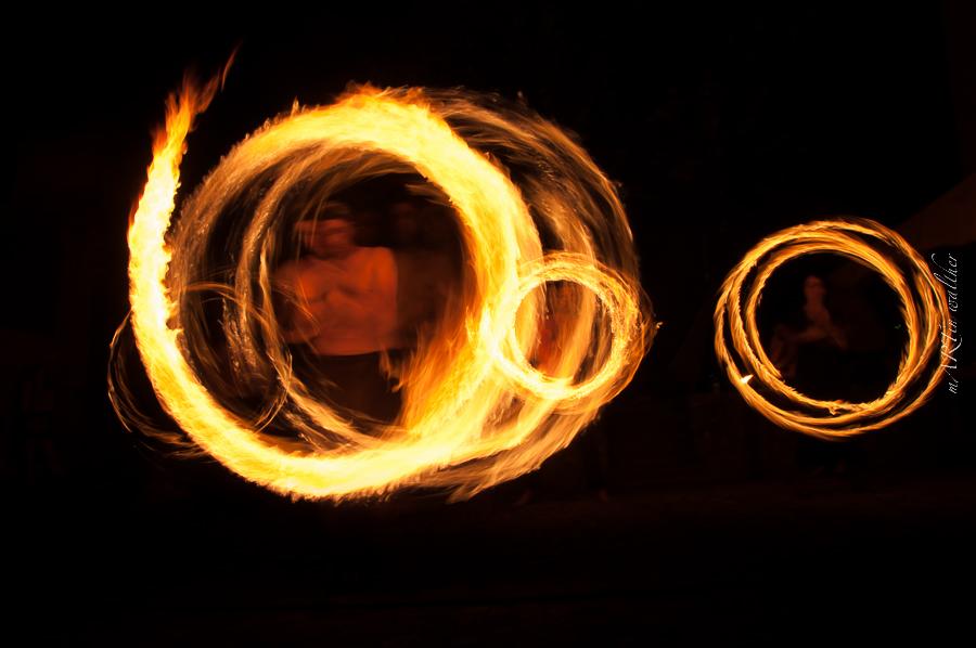 Feuershow mit dem Mittelalterverein Bern