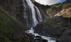 Oberer Wasserfall auf dem Weg zur Engstligenalp in Adelboden