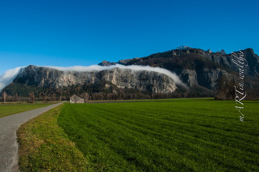 Nebelwasserfall am Fläscherberg