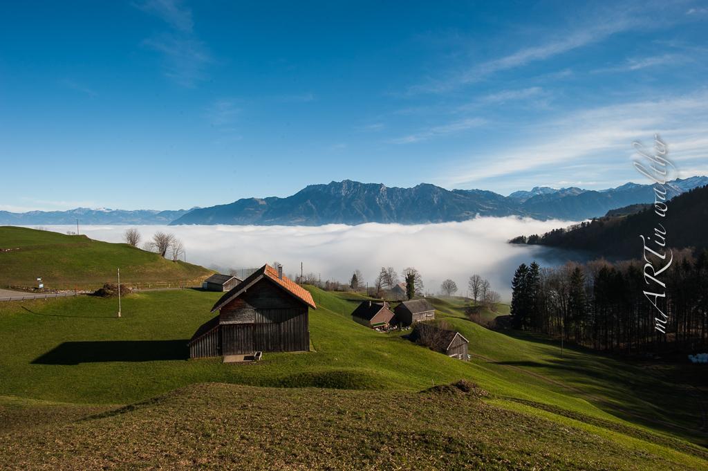 Nebelmeer im Bezirk Werdenberg