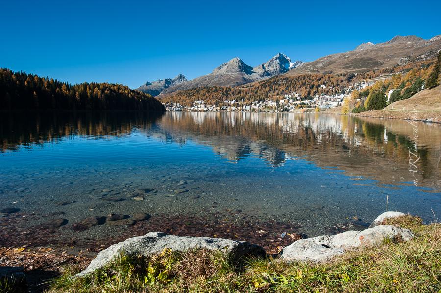 St. Moritzersee – Lej da San Murezzan, Engiadina, Herbst