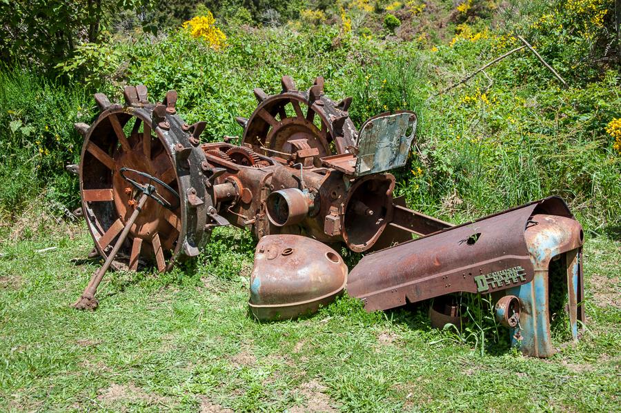 Goldgräber Traktor, Buller Gorge, Neuseeland, Südinsel, New Zealand