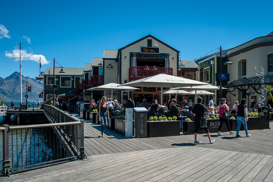 Steamer Wharf, Queenstown, Otago, Neuseeland, Südinsel, New Zealand