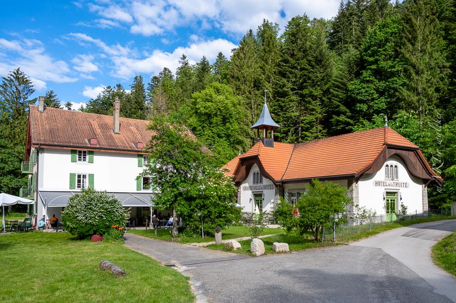 Areuse, Champ-du-Moulin, Creux du Van, Val de Travers, Ferien, Hotel de la Truite, Martin Walther Foto & IT, Neuenburger Jura